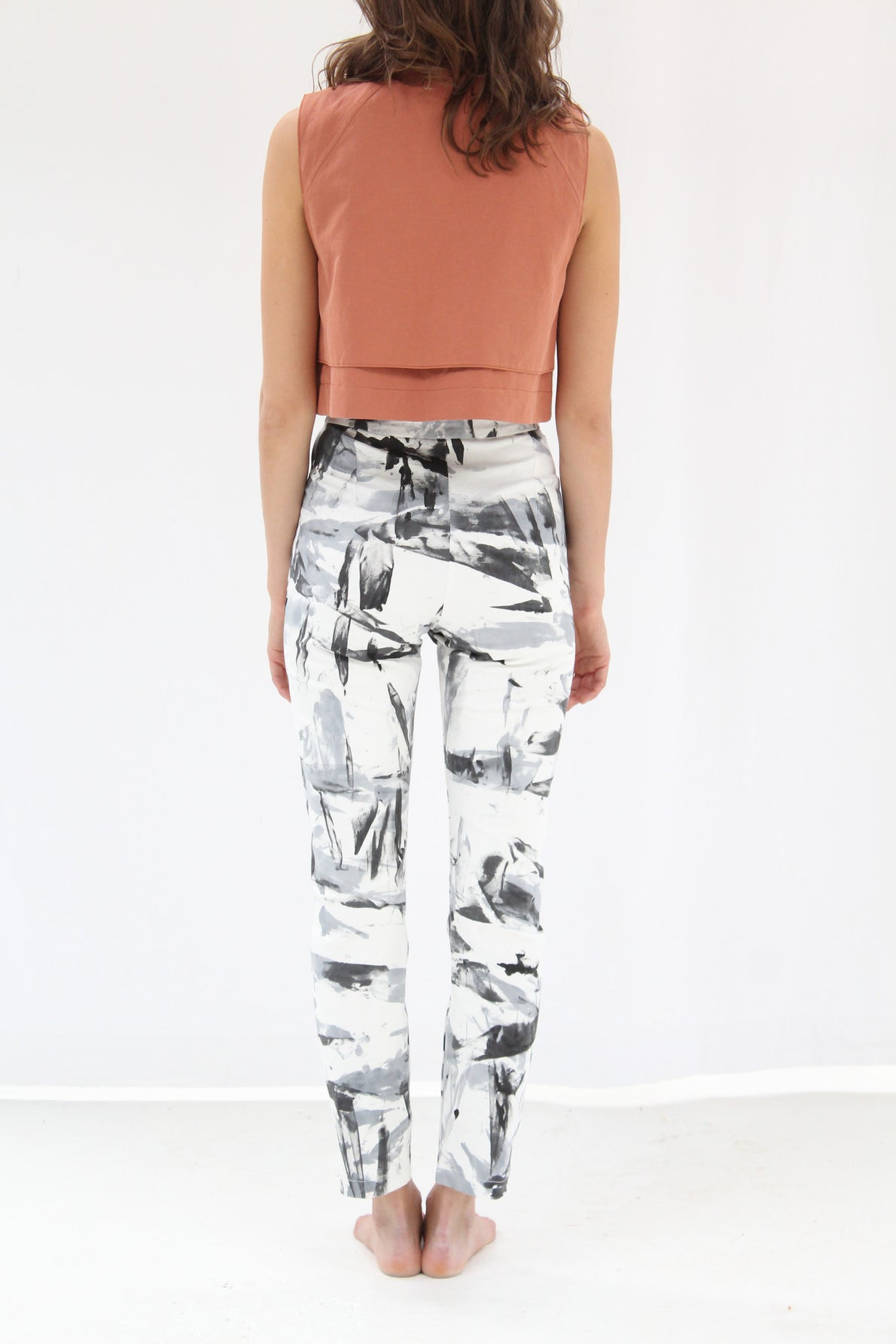 Osei Duro Vapos Trouser Black White Abstract