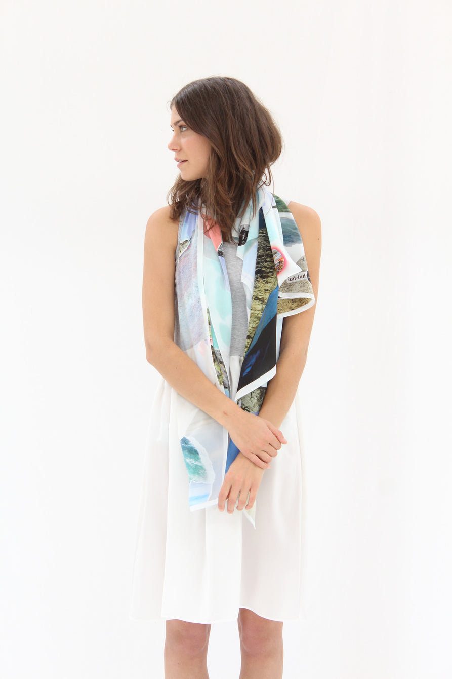 Hui Hui Scarf Pool Print Colorful