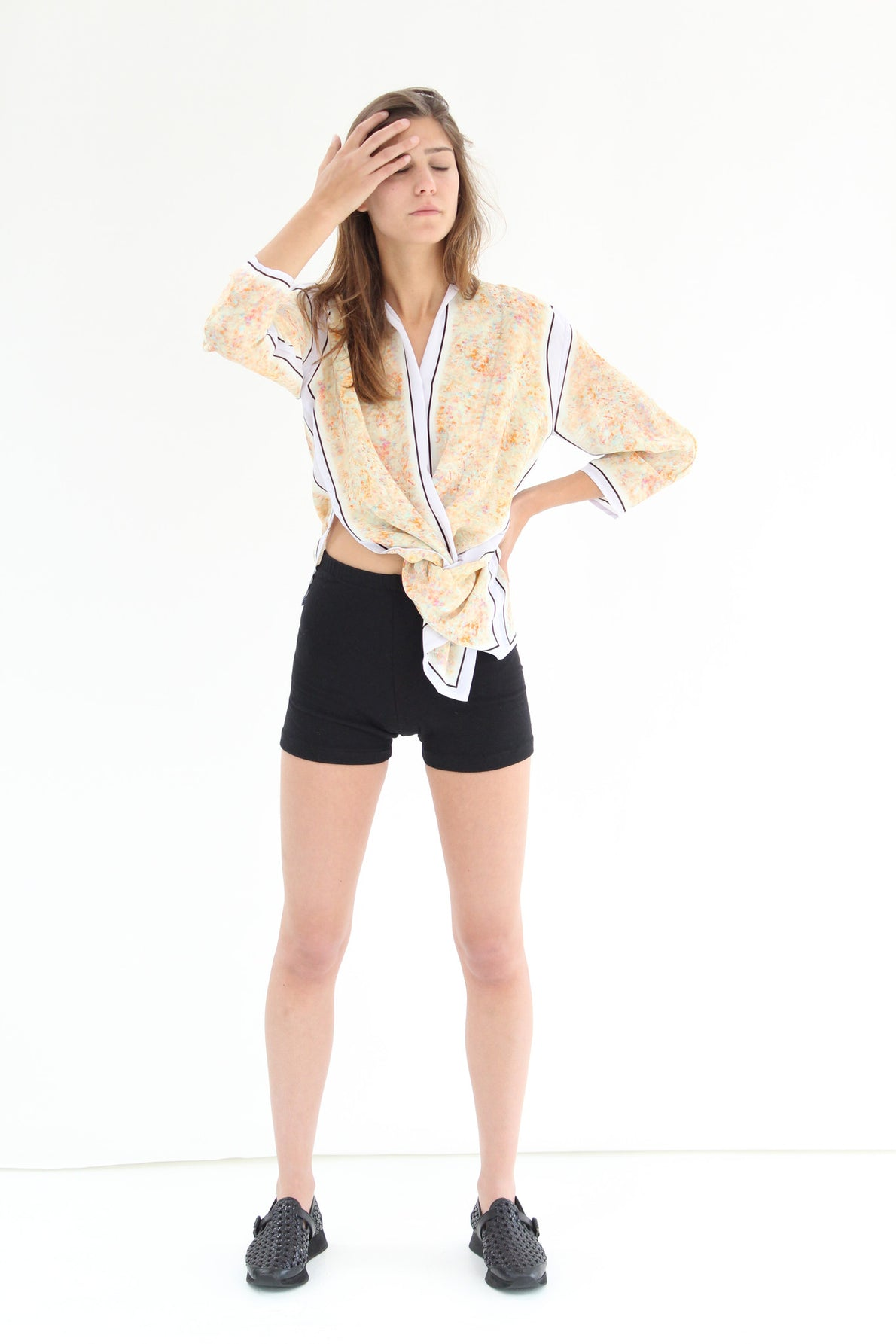 Lina Rennell Double Layer Cotton Shorts