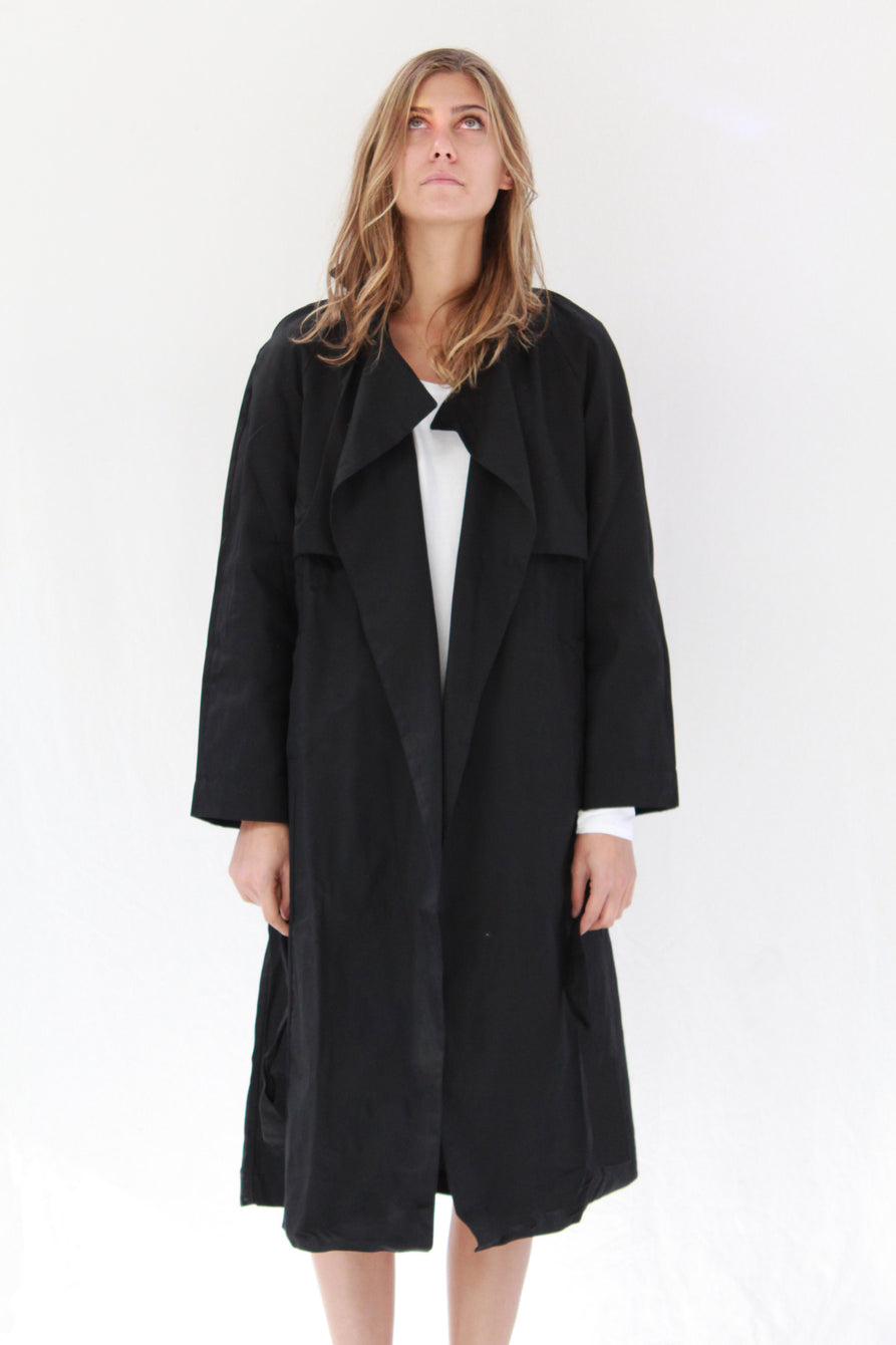 Kowtow Keepsake Trench Coat Black At Beklina