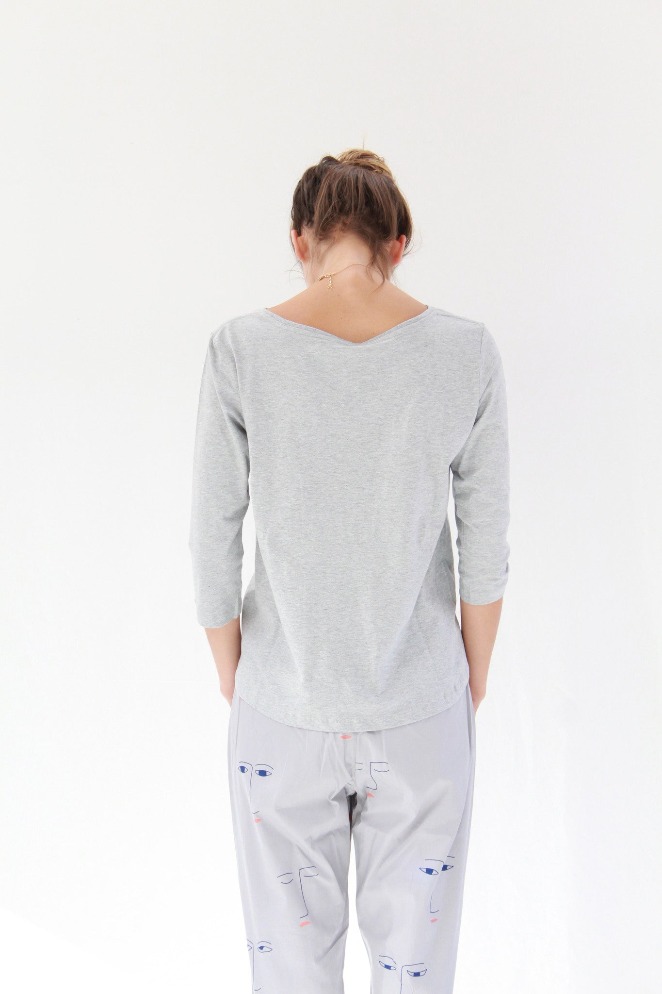 Beklina Building Block Boatneck Top Grey