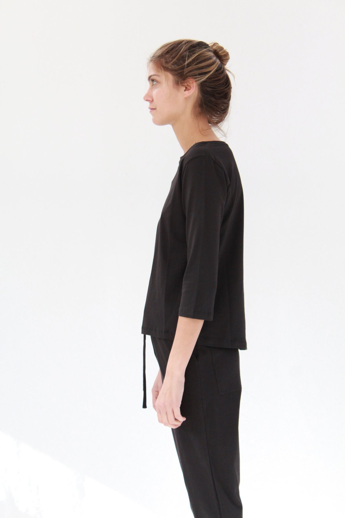 Beklina Building Block Boatneck Top Black