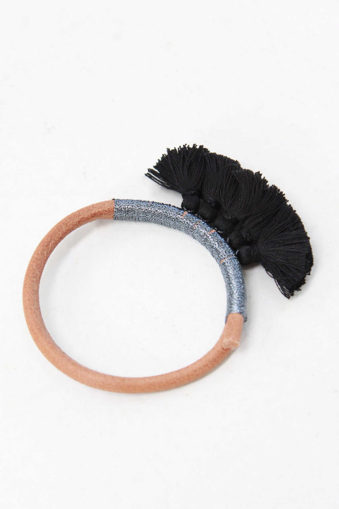 Beklina Tassel Nima Leather Bracelet By Krysos Chandi