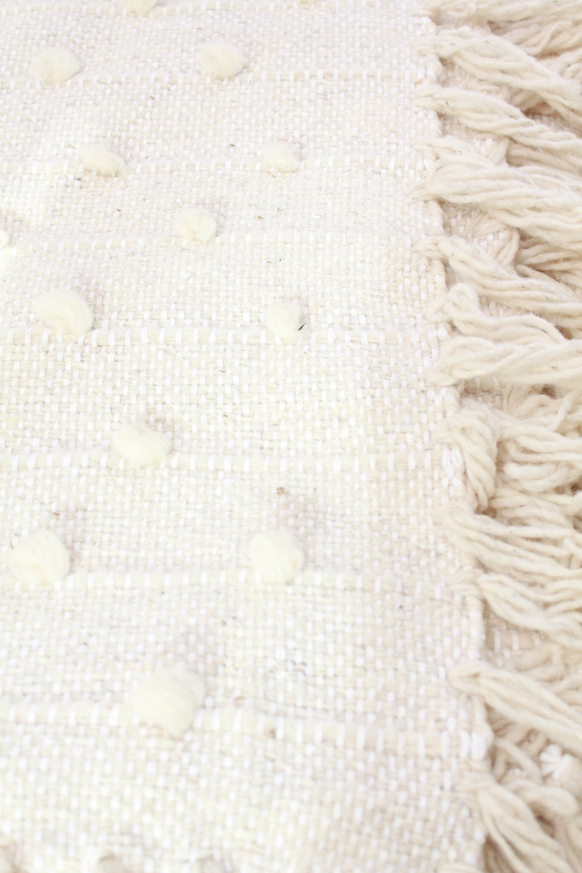 Beklina Hand Loomed Blanket Cream