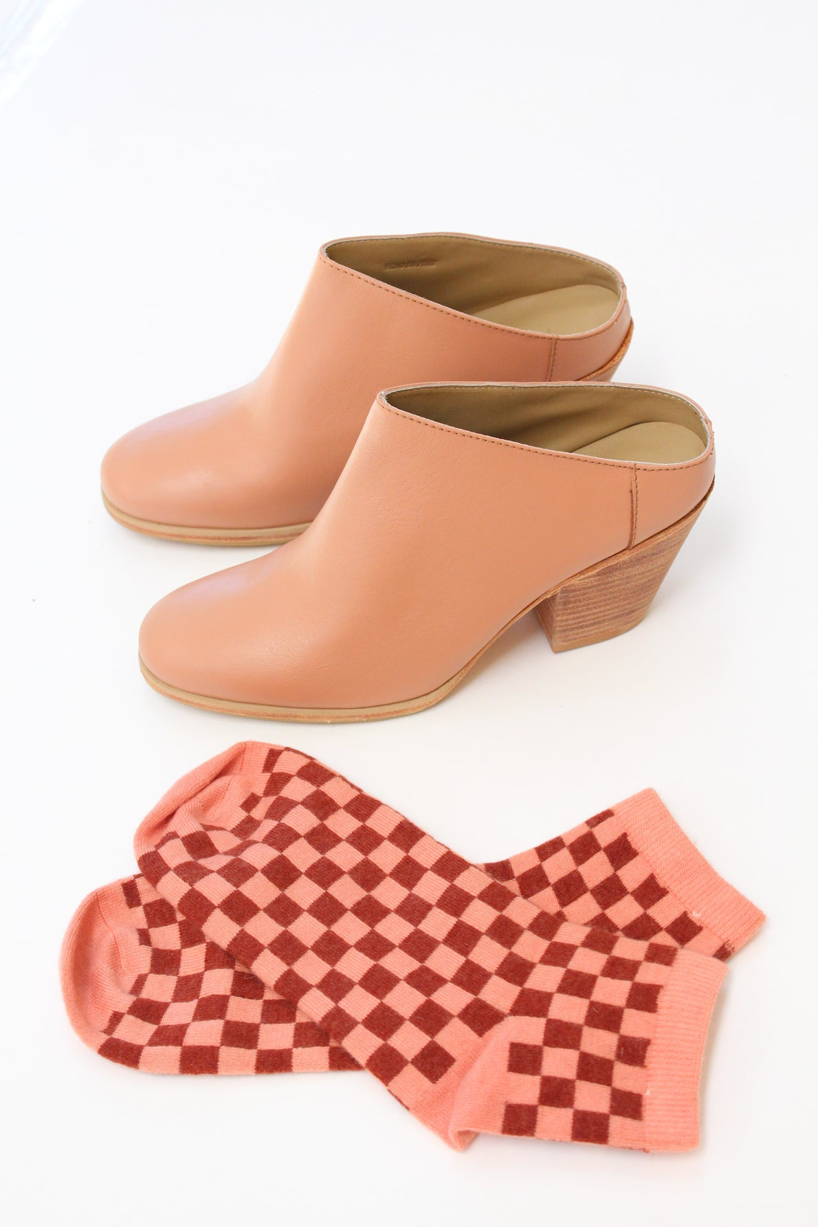 Beklina Cashmere Socks Checkerboard