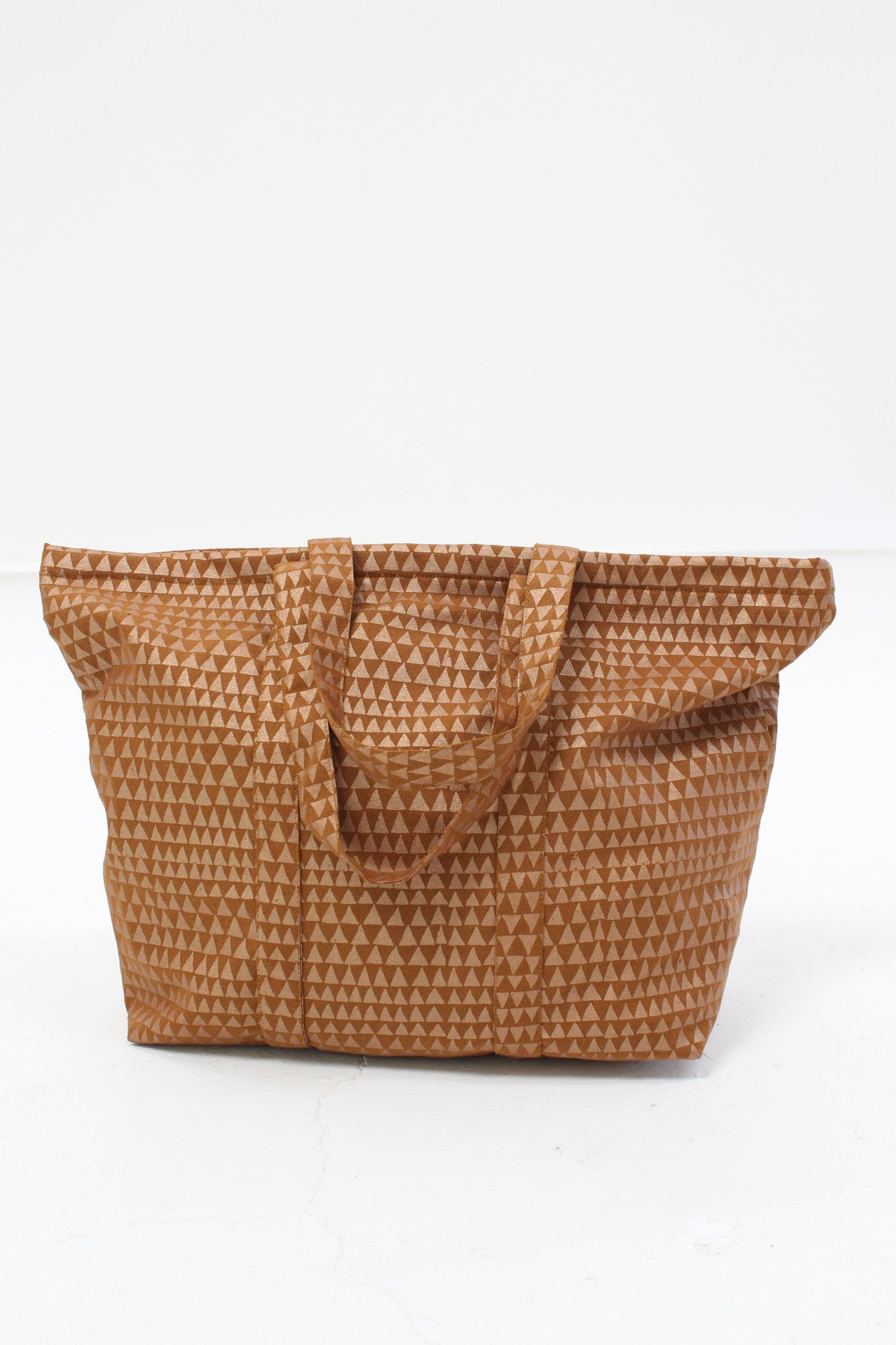 Lina Rennell Silk Tote Bag Copper Dragon