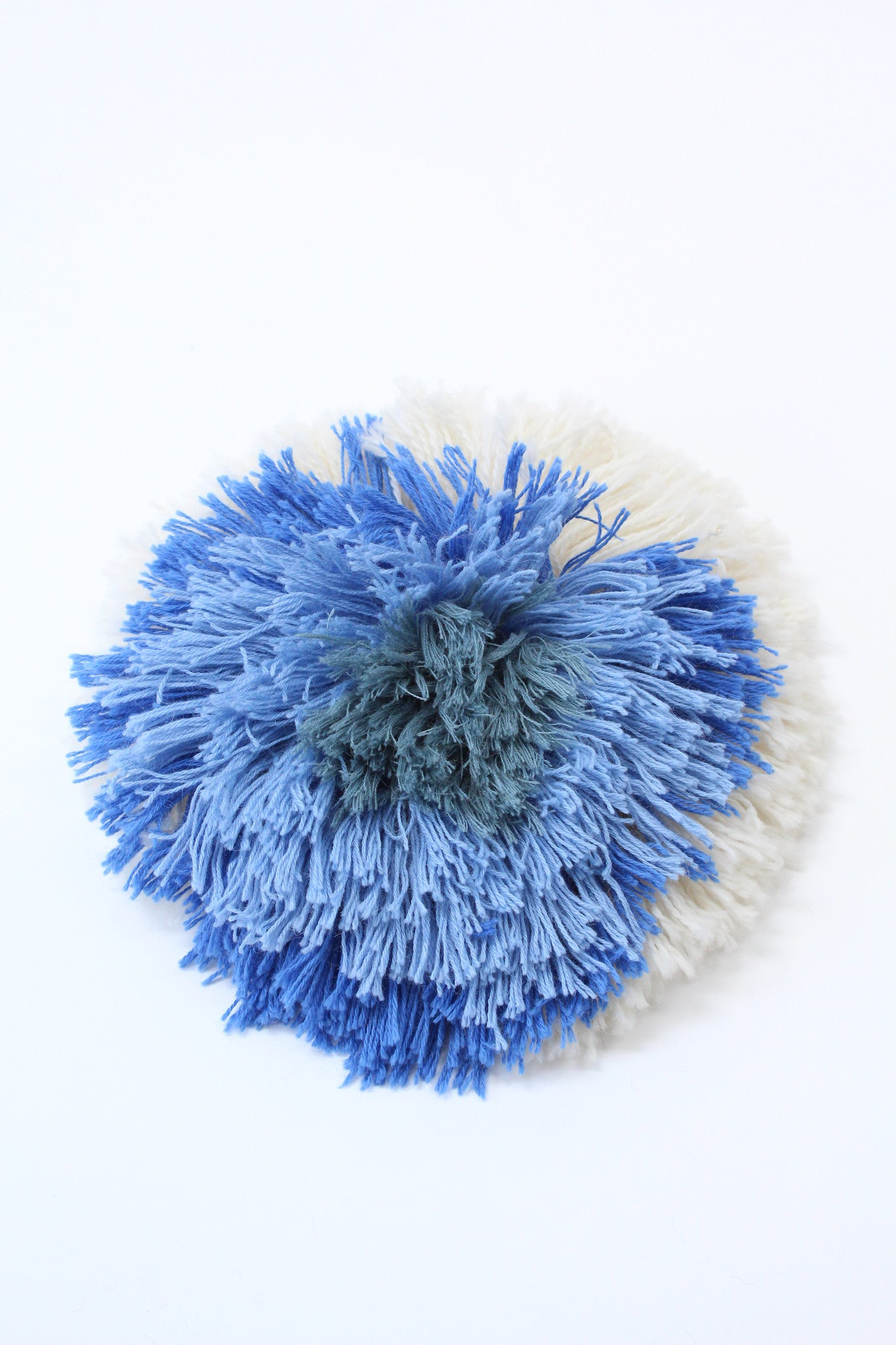 Beklina Alpaca Handmade Fringe Pillows Blue Mix