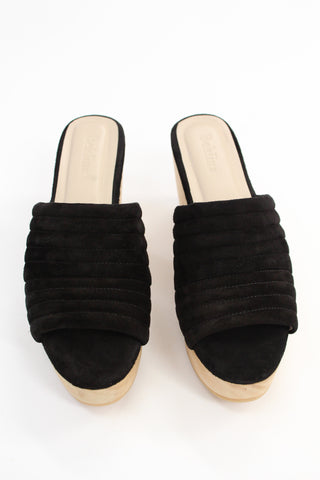 Beklina Suede Ribbed Clog Licorice