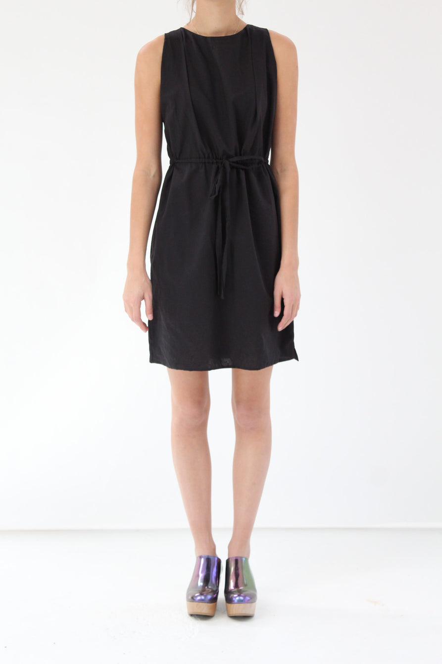 Lina Rennell Hoda Tie Dress Black