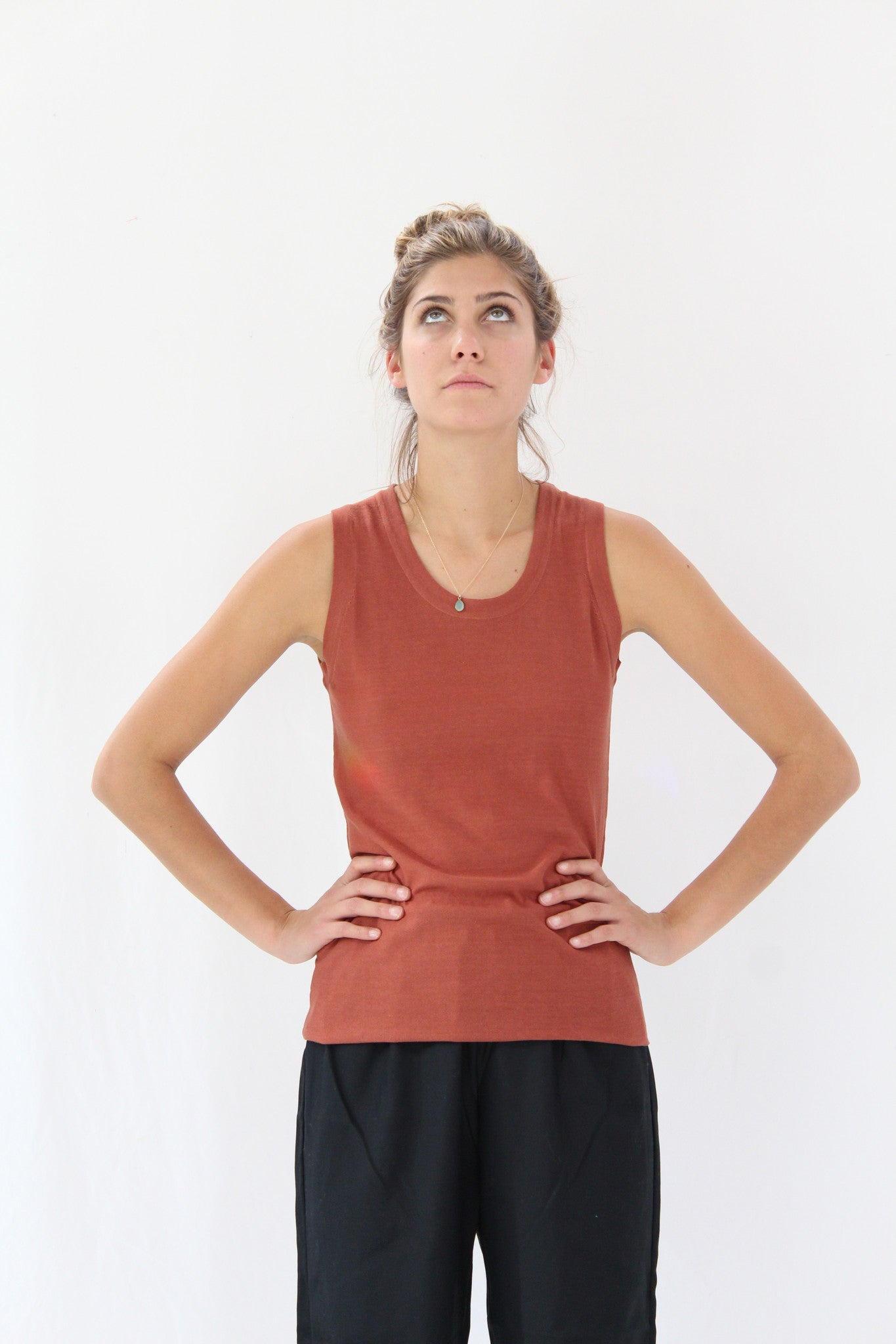 Lina Rennell Tank Cotton / Silk Knit Spice