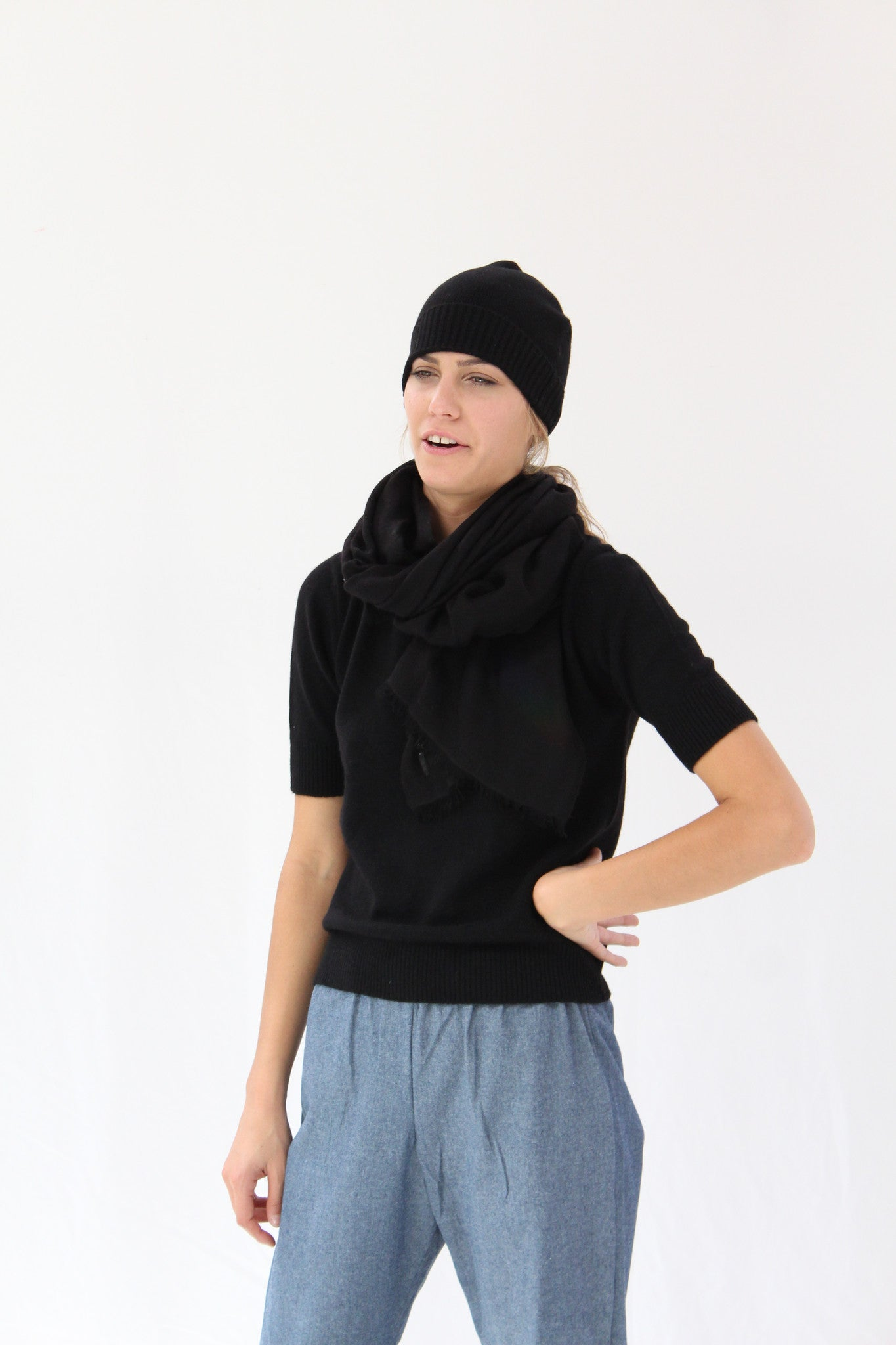 Lina Rennell Knit Cashmere Hat