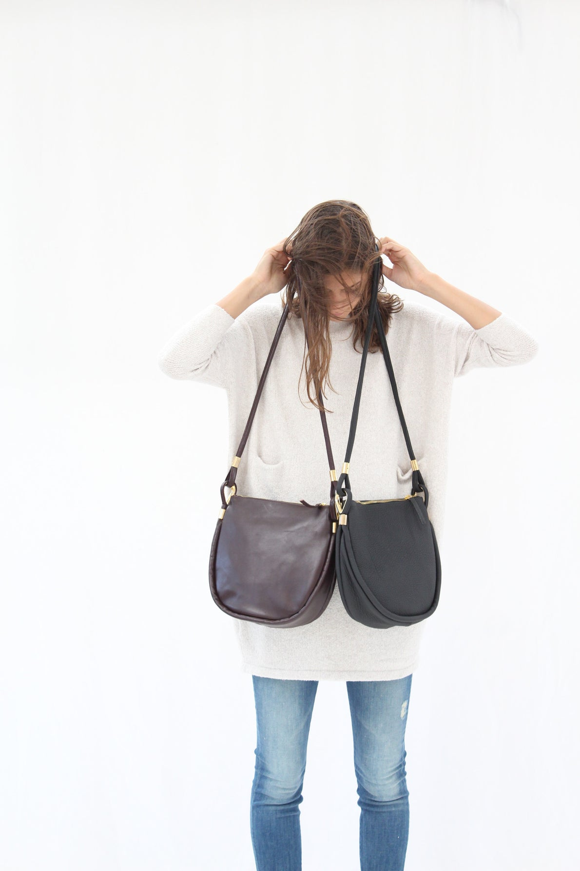 Sea Sack Bags In Black & Currant