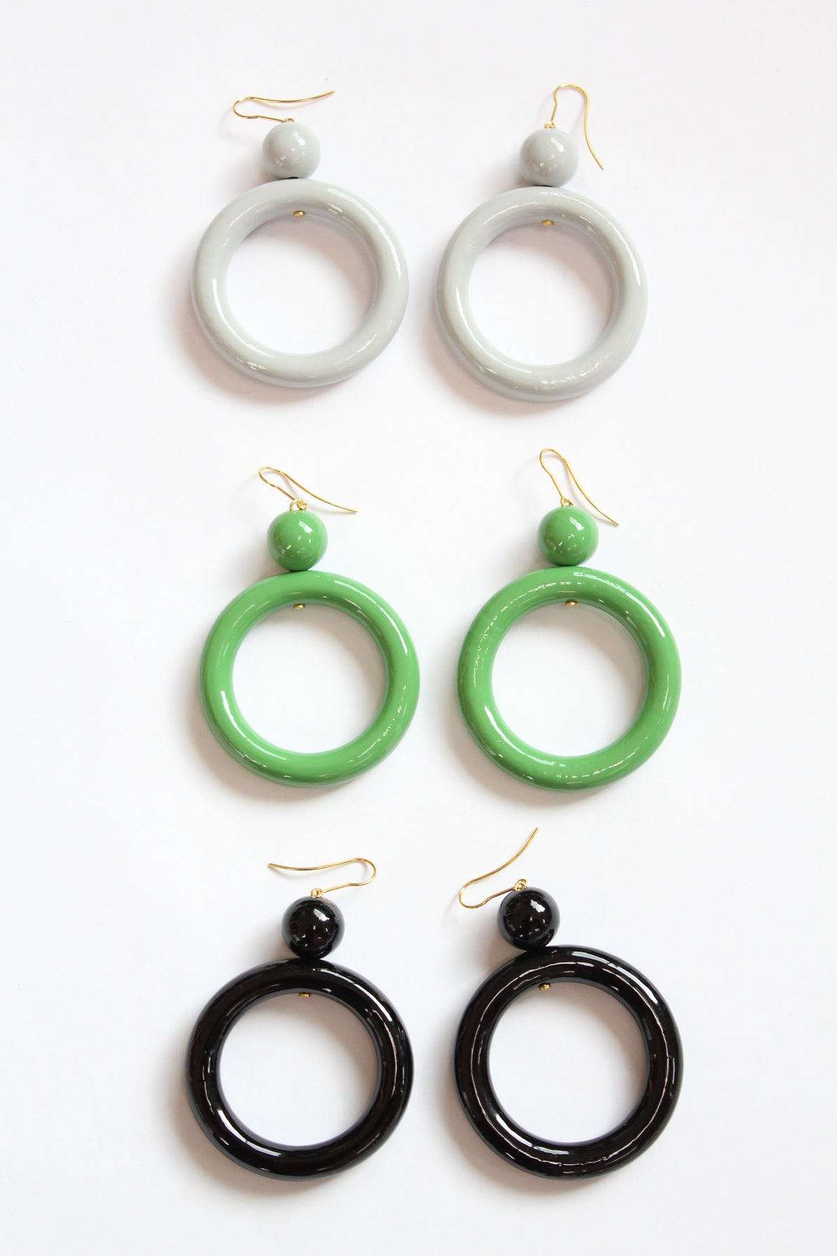 Wooden Earrings Pune Hoops