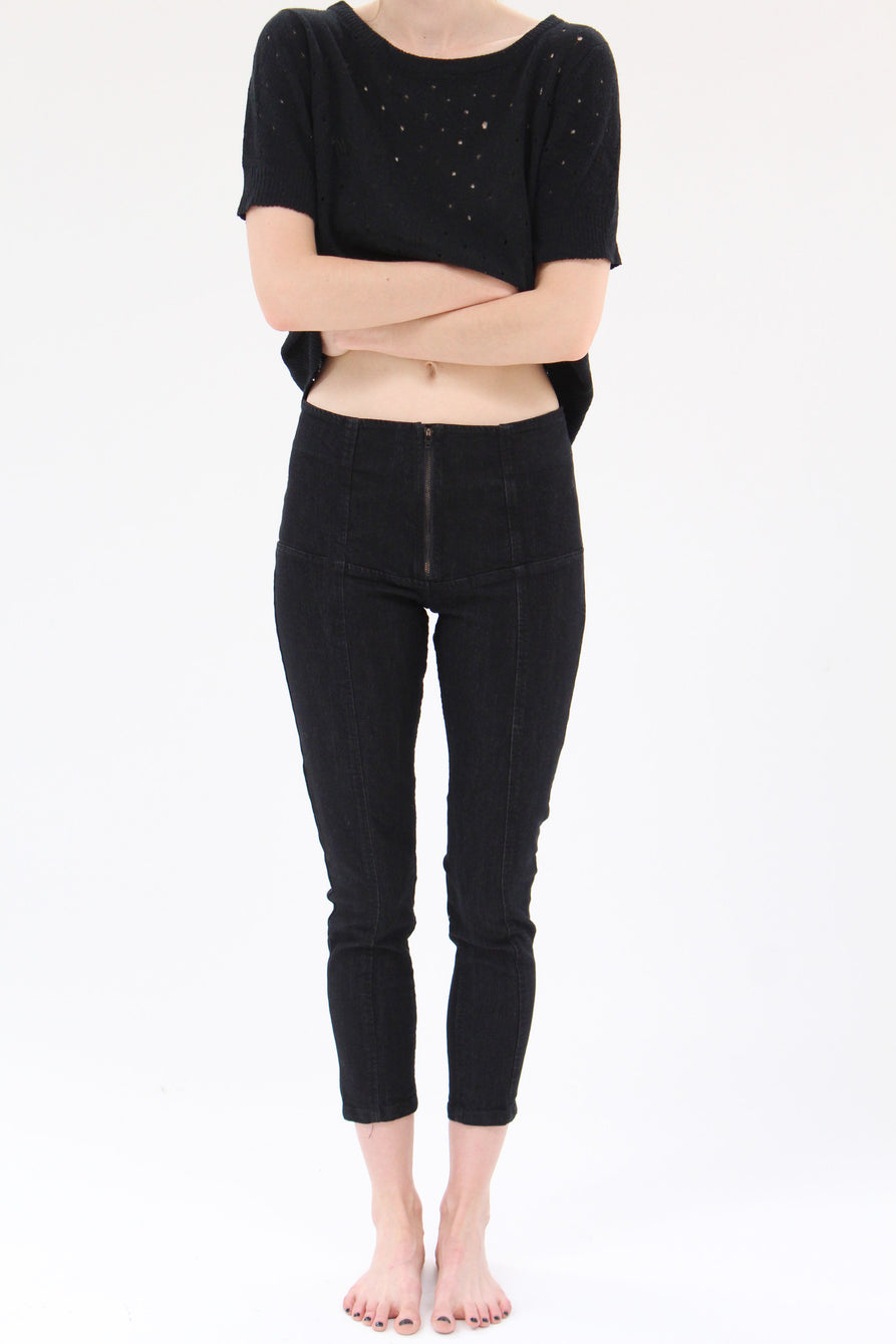 Prairie Underground Denim Girdle Ankle Length Black