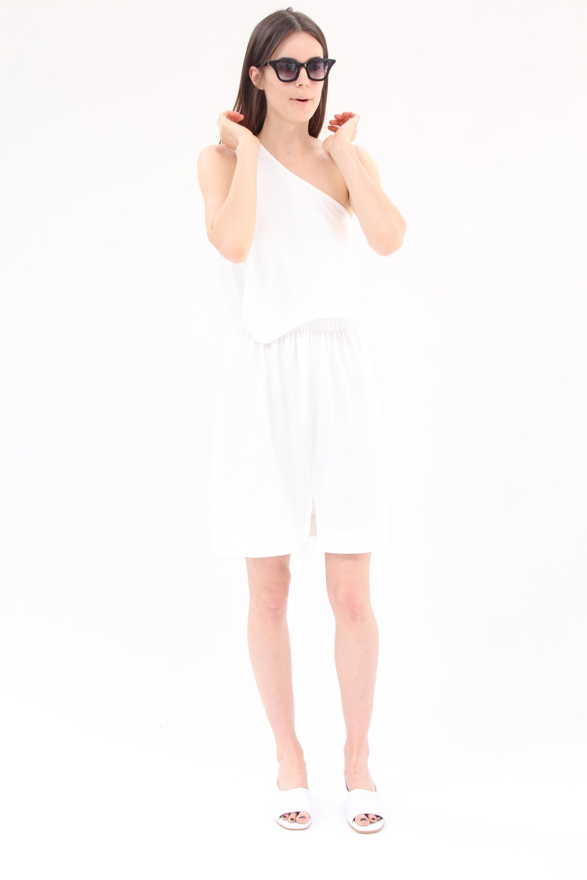 Lina Rennell Falls Dress White Organic Cotton Jersey