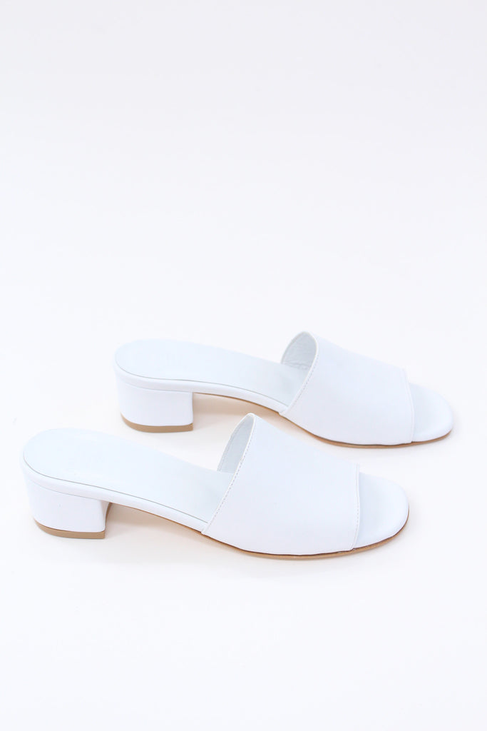 MNZ Sophie Slide White