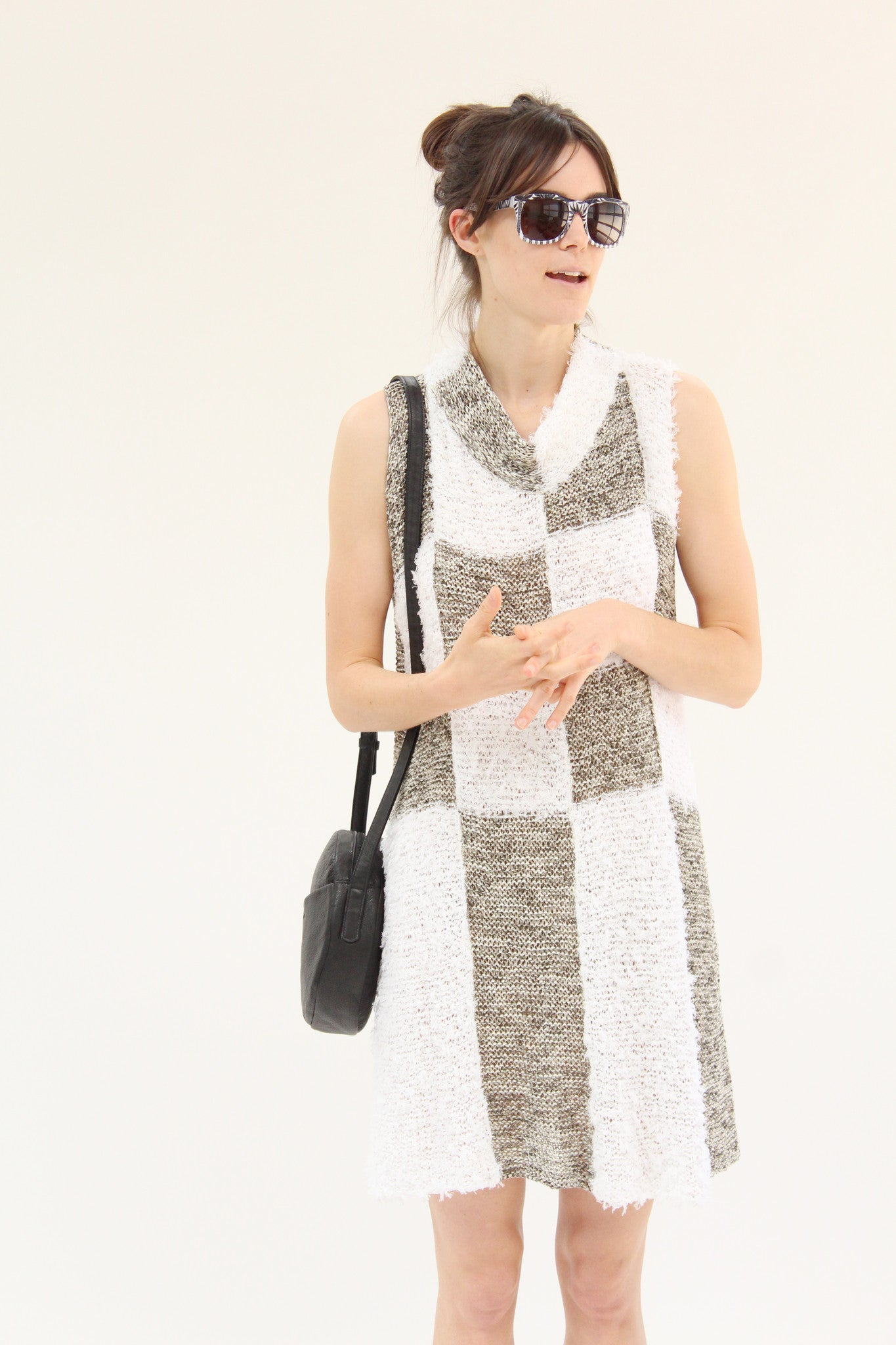 Correll Correll Check Knit Dress