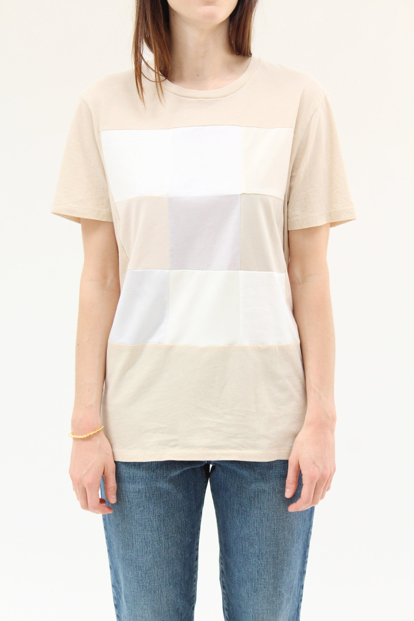 Correll Correll Combo Square T Shirt Natural