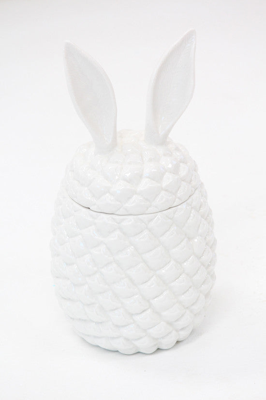 Ceramic Pineapple Bunny Container