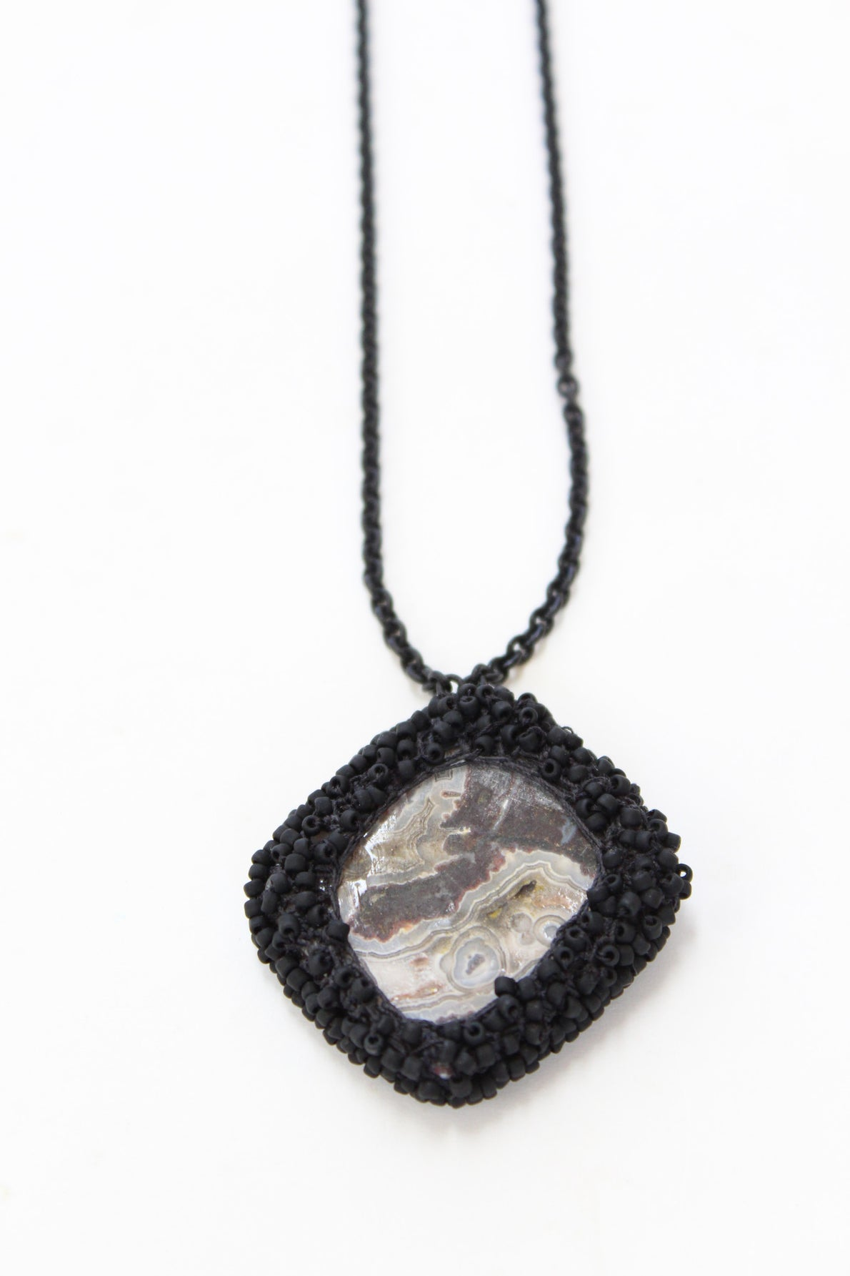 Jacki Holland Necklace Crazy Lace Agate