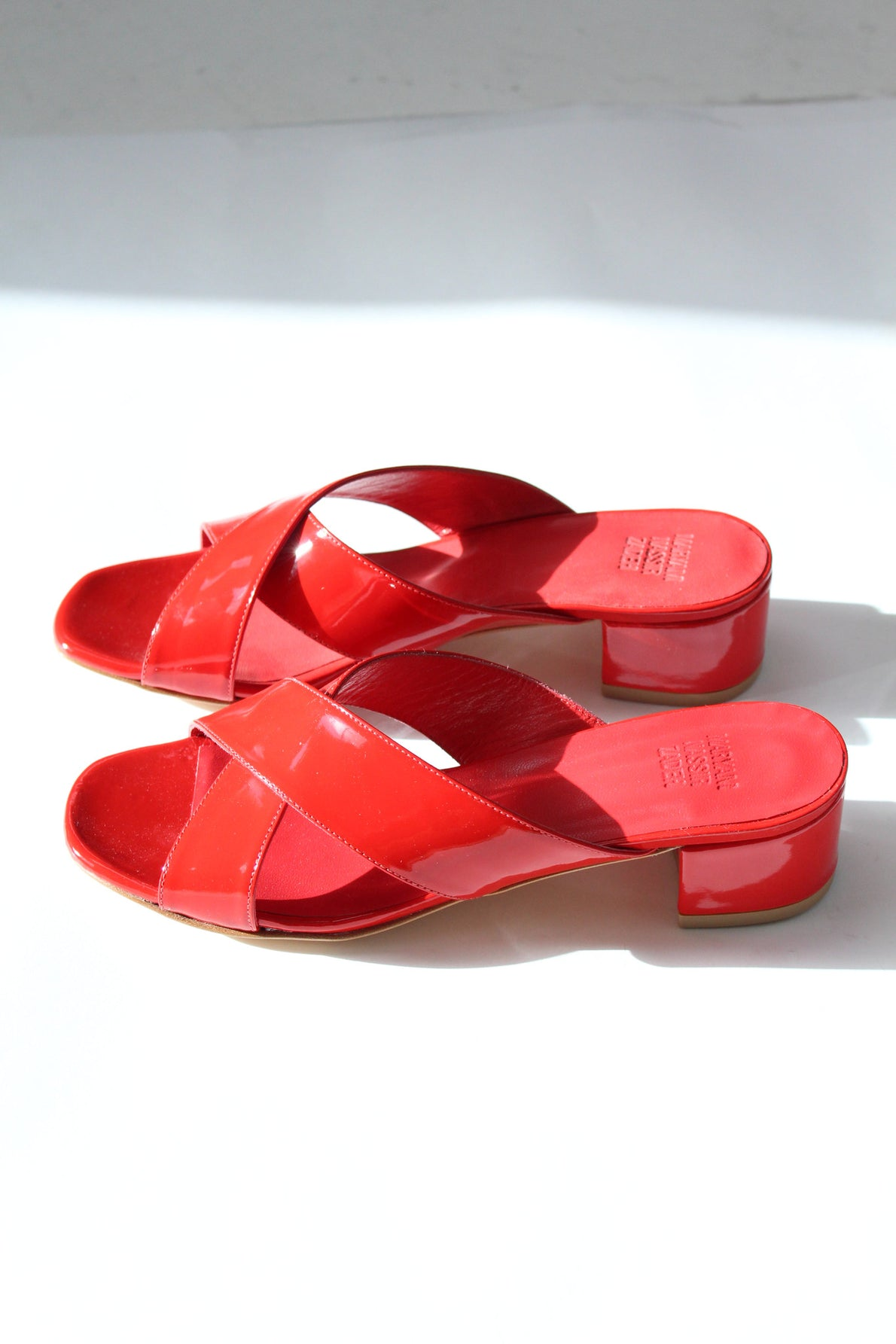 MNZ Lauren Slide Red Patent Leather At Beklina