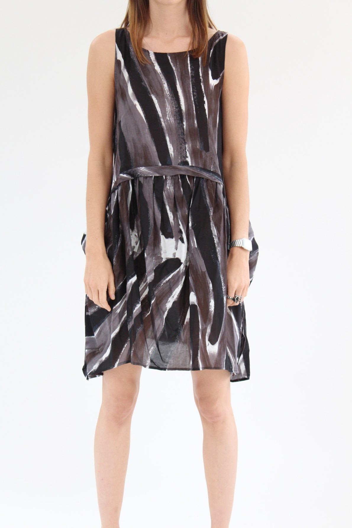 Rachel Comey Popcorn Dress Mink Canter Stripe / BEKLINA