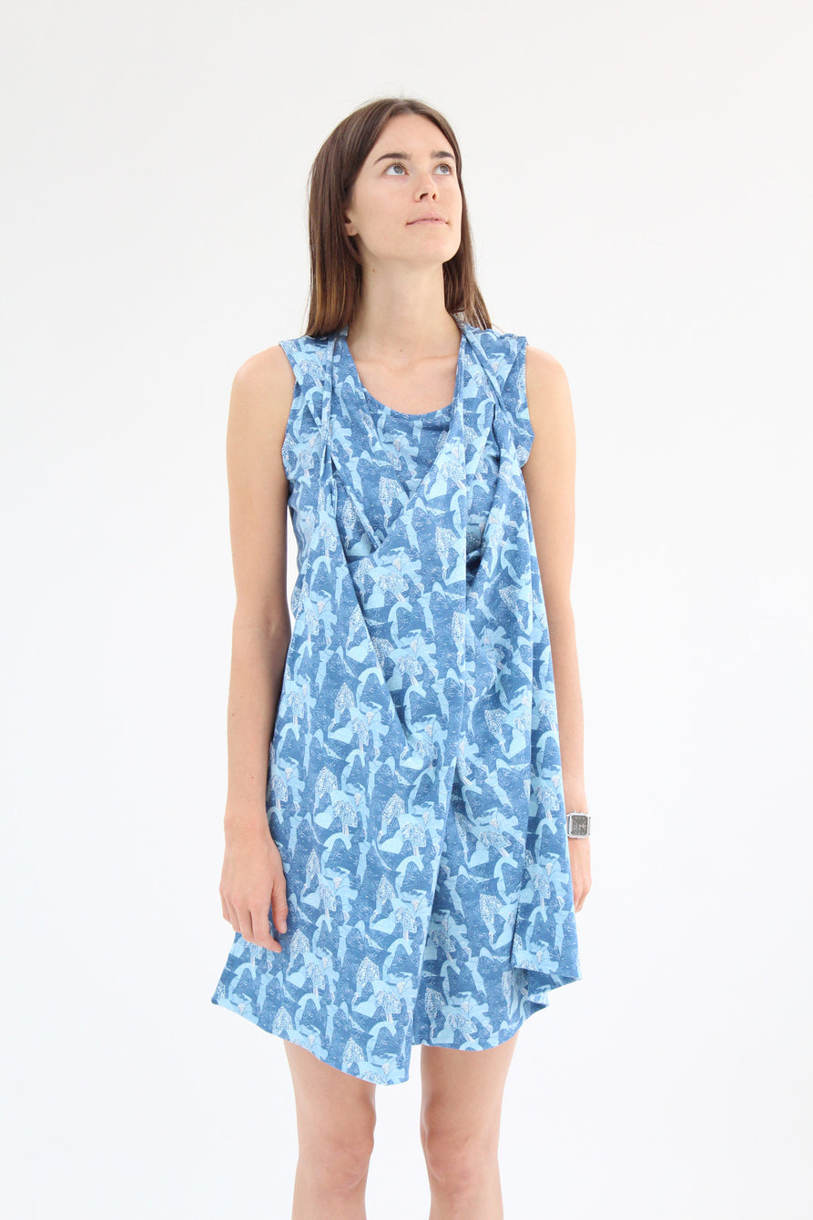 Lina Rennell Criss Cross Jersey Wrap Dress Print / BEKLINA