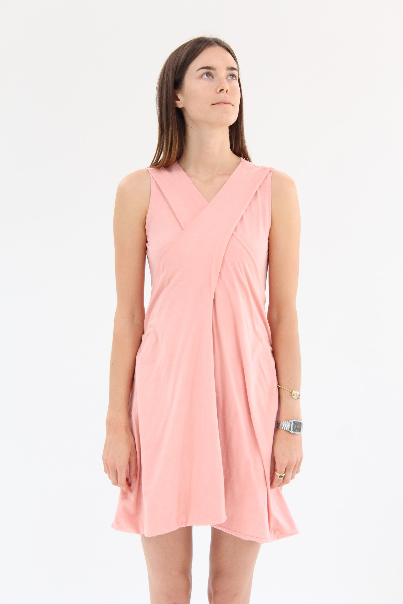 Lina Rennell Criss Cross Jersey Wrap Dress Rose / Beklina