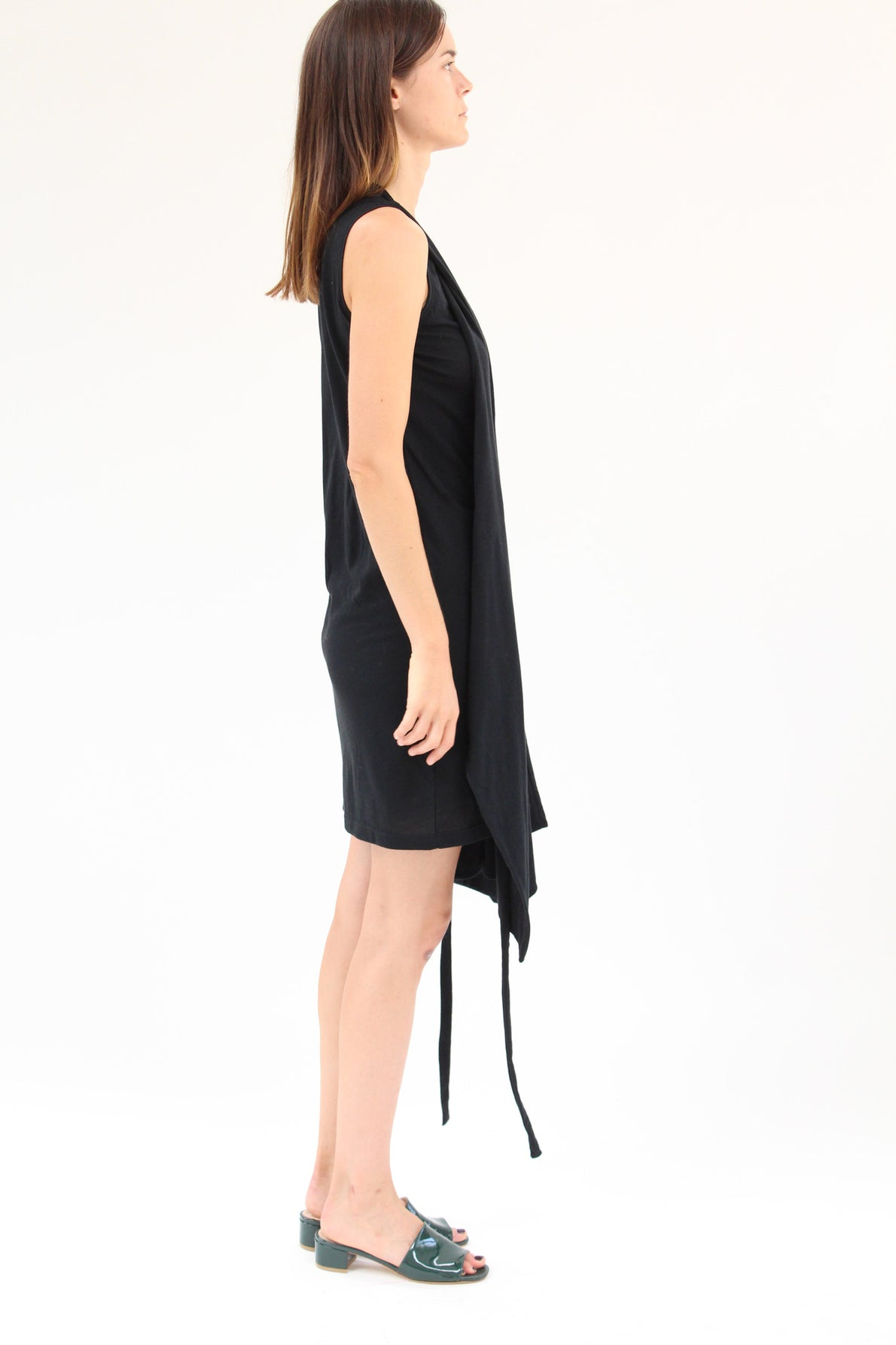 Lina Rennell Criss Cross Jersey Wrap Dress Black / BEKLINA