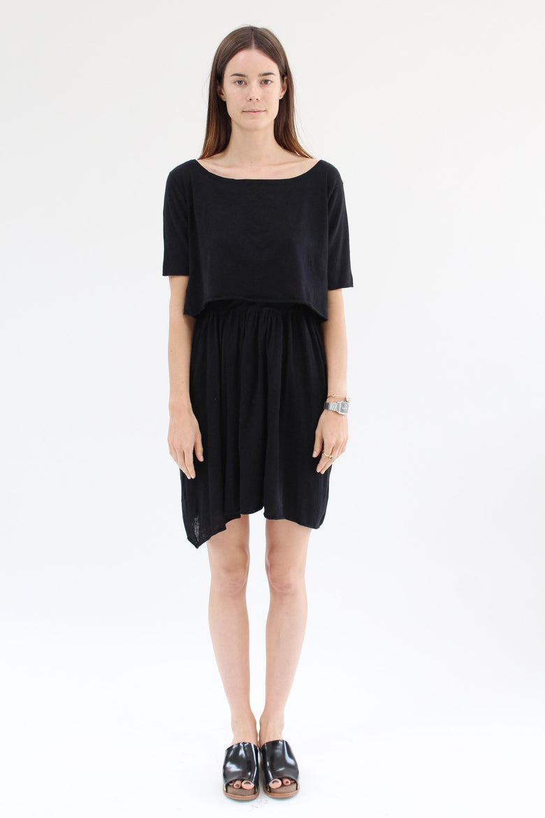 Lina Rennell Detached Dress Black / BEKLINA