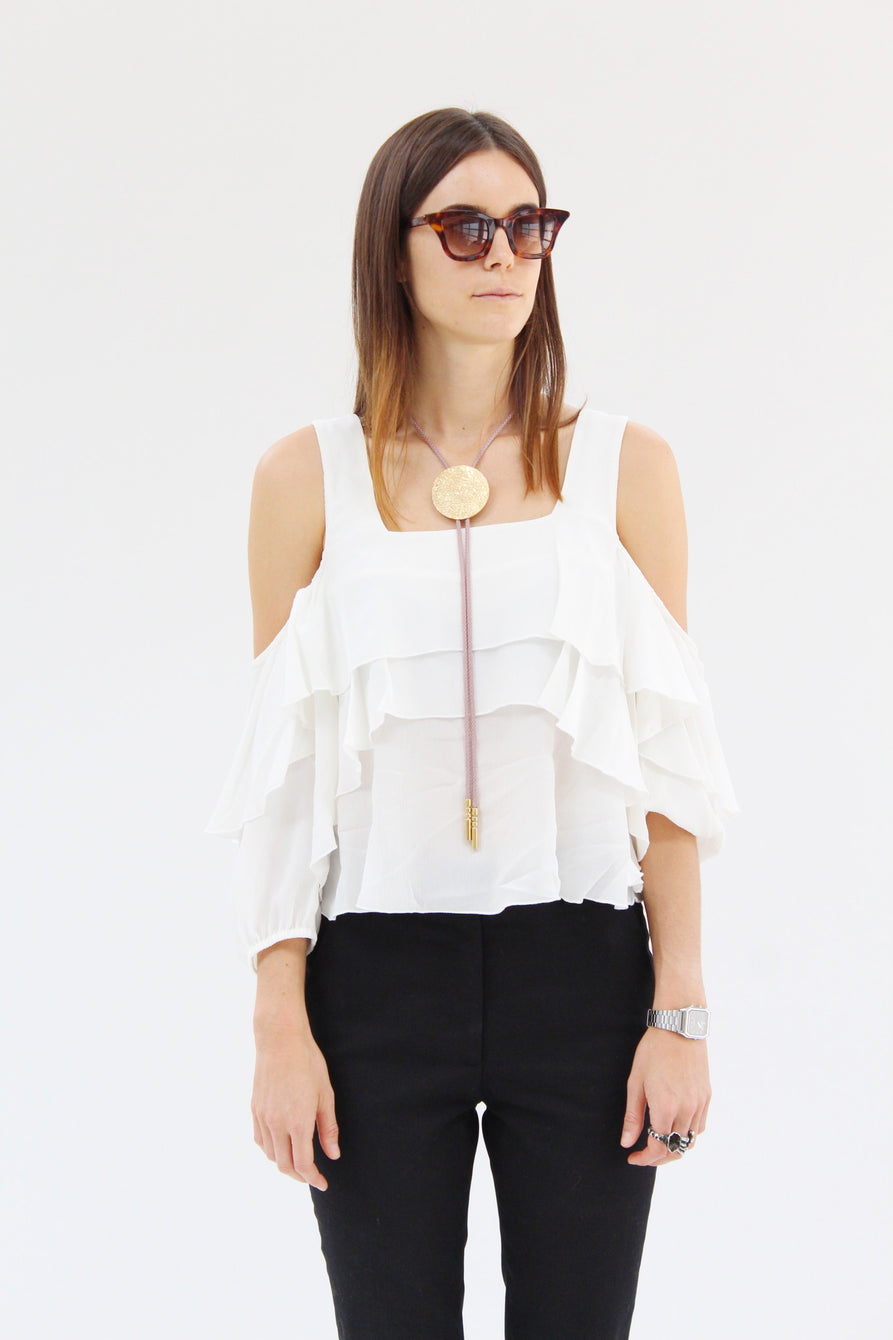 Apiece Apart Viga Cold Shoulder Top / Beklina