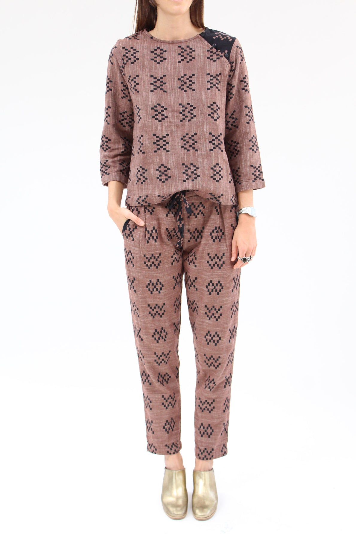 Ace & Jig Stafford Pant Sampler Brown / Beklina
