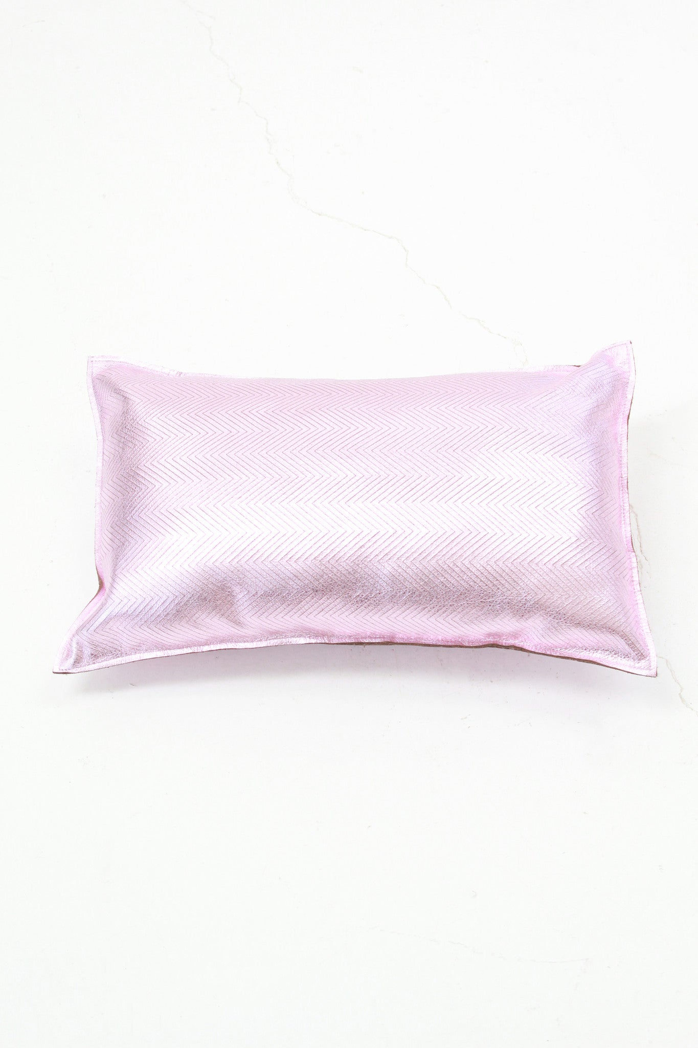 Beklina Metallic Pink Pillow Zig Zag