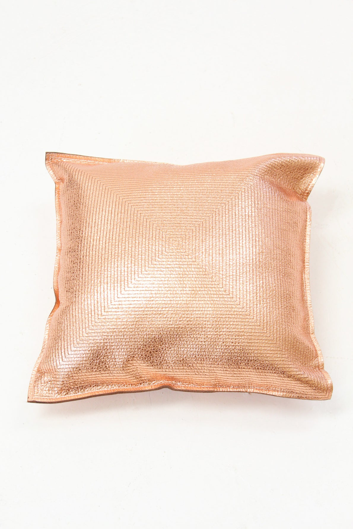 Beklina Metallic Copper Pillow Concentric