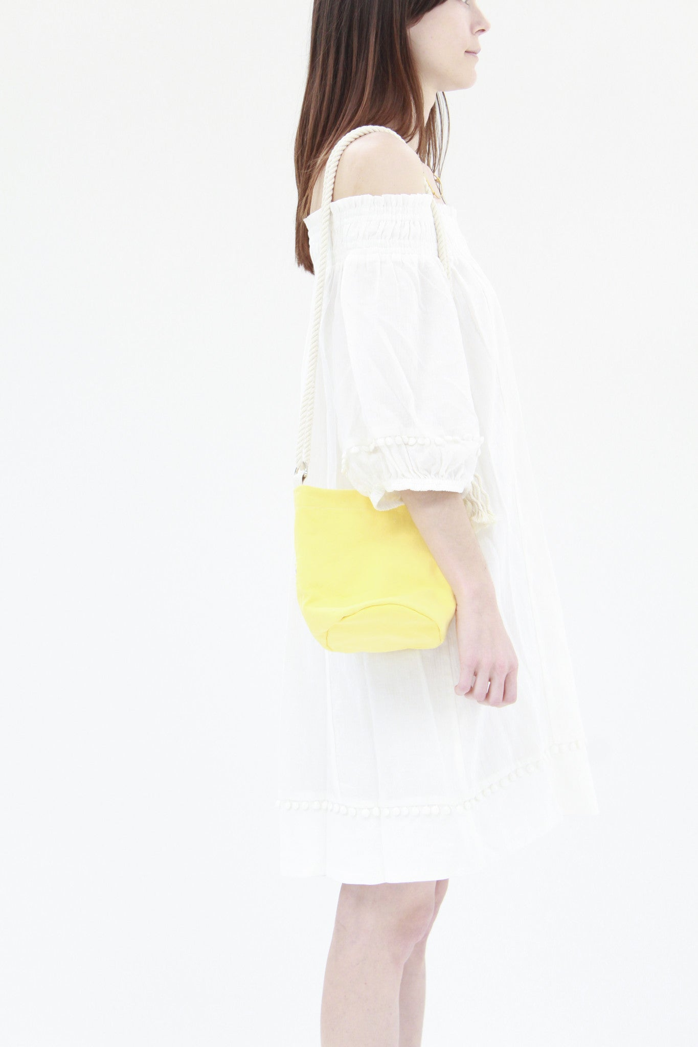 Beklina Lotfi Mini Bucket Bag Lemon