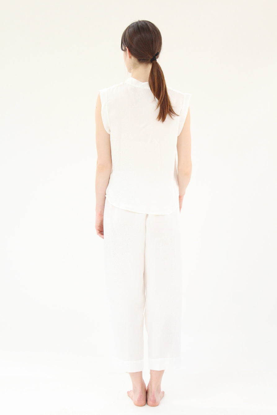 Lina Rennell Silk PJ's White