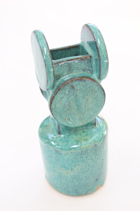 Bari Ziperstein Circle Top Vase Turquoise