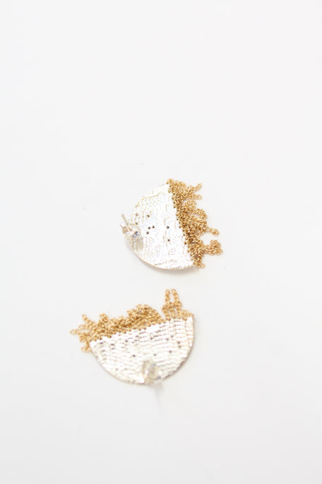 HannahK Half Circle Stud Earrings