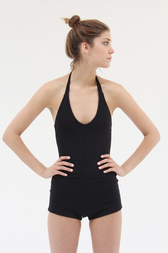 Lina Rennell Tie Swimsuit Organic Cotton Jersey Black