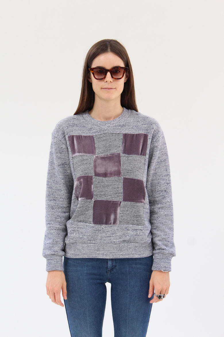 Correll Correll Checkered Velvet Sweatshirt / Beklina