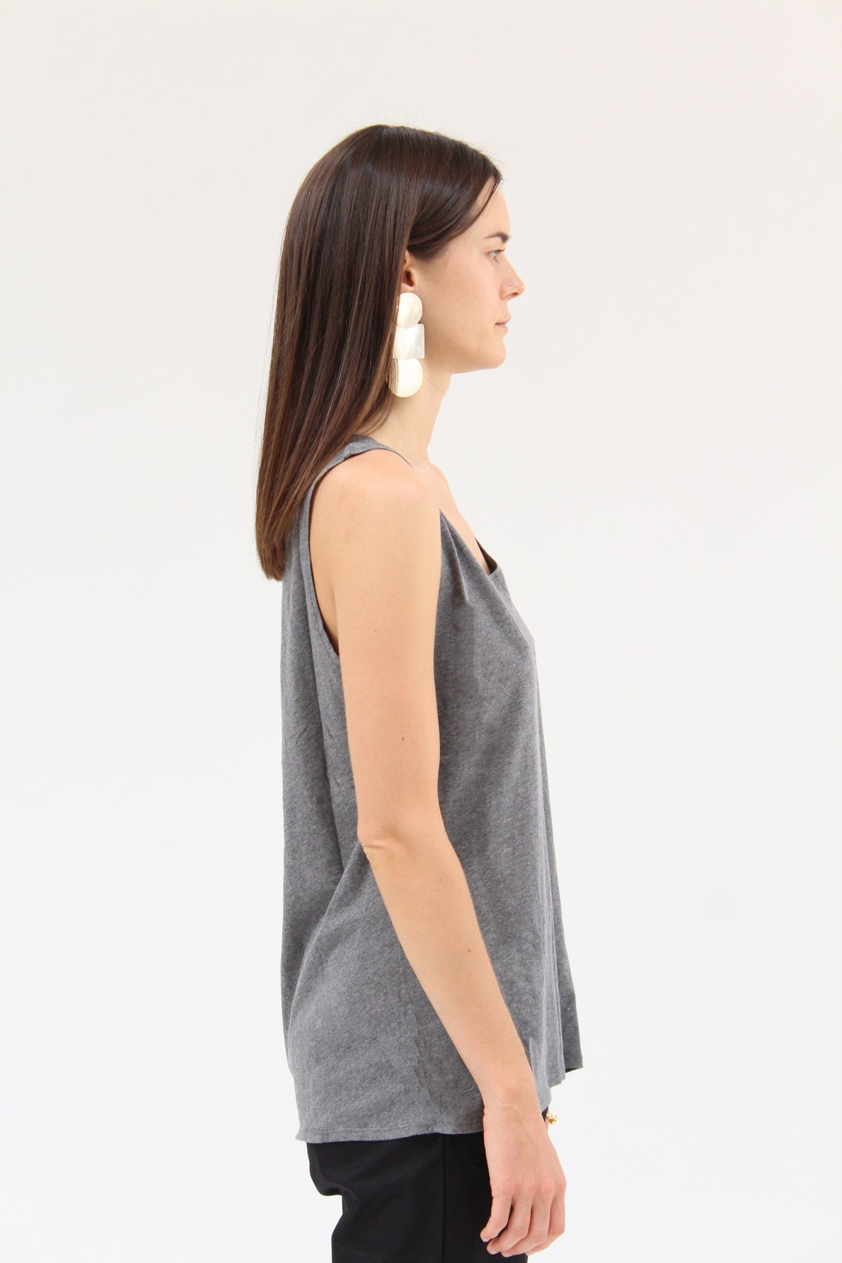 Kowtow Building Block Singlet Grey