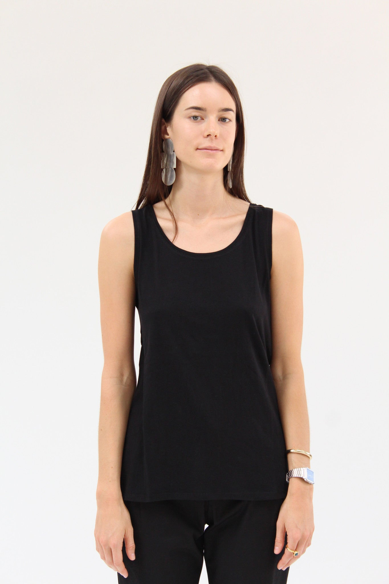 Kowtow Building Block Singlet Black