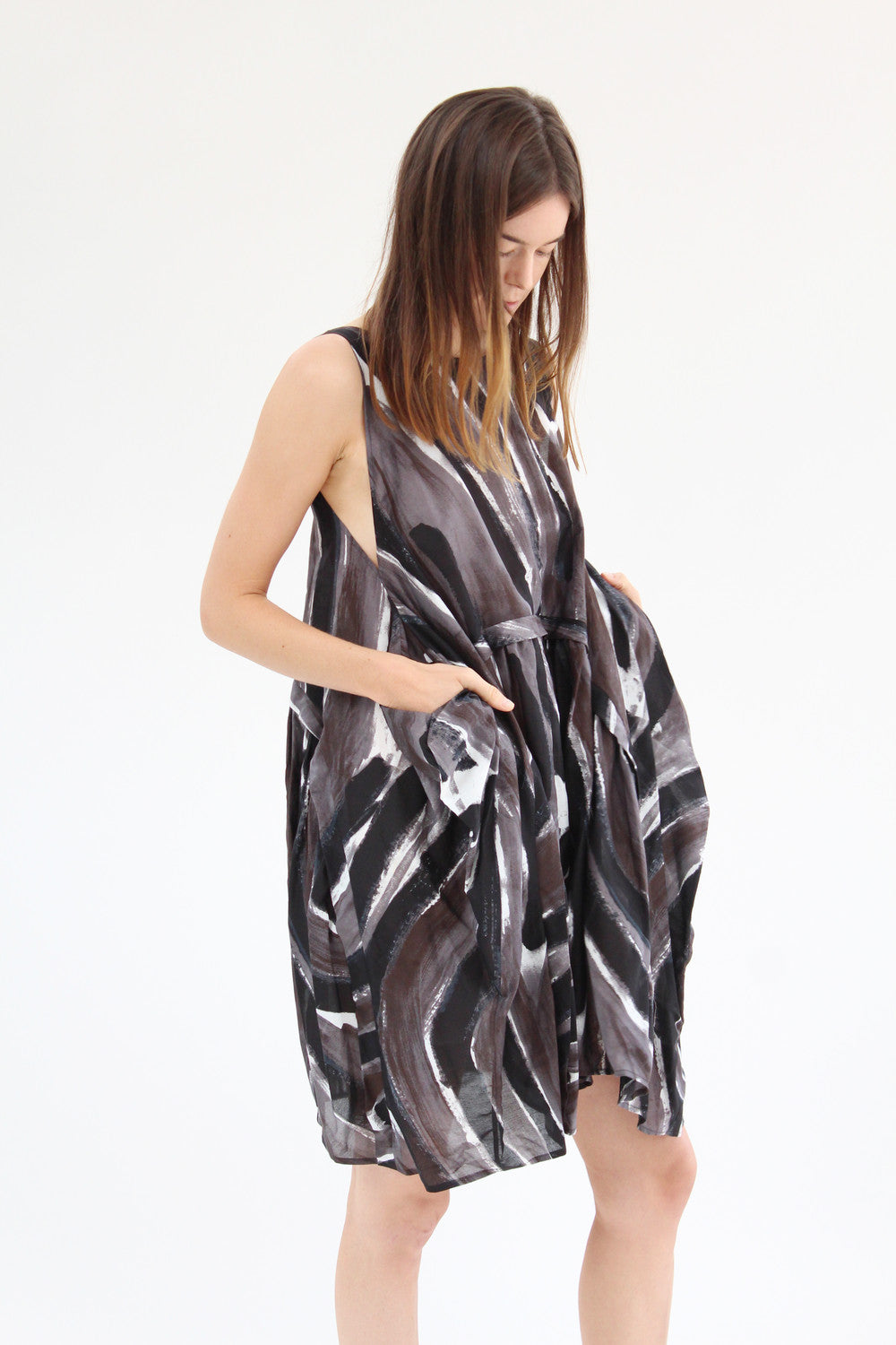 Rachel Comey Popcorn Dress Mink Canter Stripe