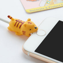 Load image into Gallery viewer, Animal Cable Bite Protector Winder Cute Cartoon Cover Protect Case Wire Organizer Holder For IPhone Huawei Earphone cable