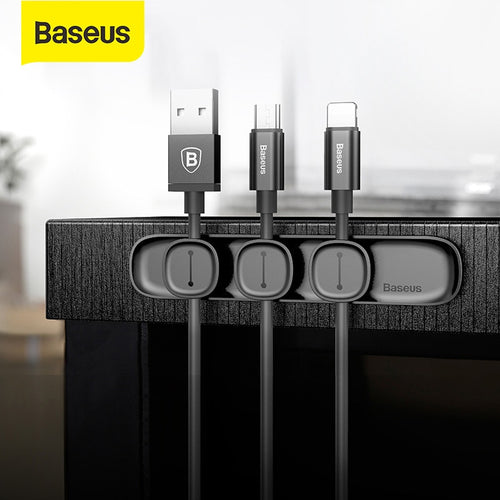 Baseus Magnetic Cable Clip For Mobile Phone USB Cable Winder for Earphone Cable Organizer Magnetic Holder Desktop Cable Winder