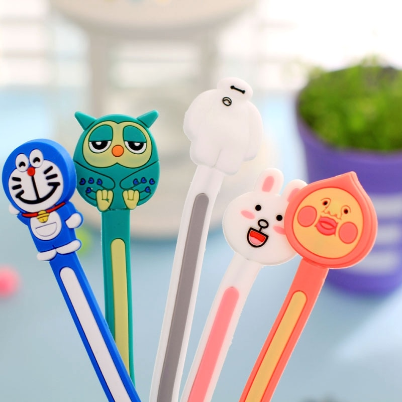 2Pcs/lot Cartoon Earphone Cable Winder USB Charging Wire Organizer Data Line Management Clip Cable Cord Holder