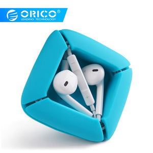 ORICO Winder Cable Organizer Silicone Flexible Management Clips Cable Holder For Headphone Earphone Cables ELR1 Black/Gray/Blue