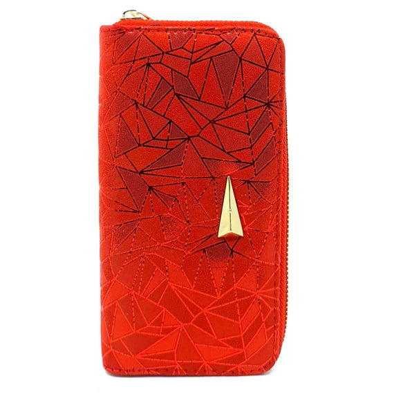 Ladies Purse- Red Geo