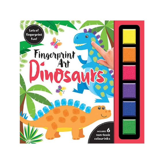 Fingerprint Art Dinosaurs