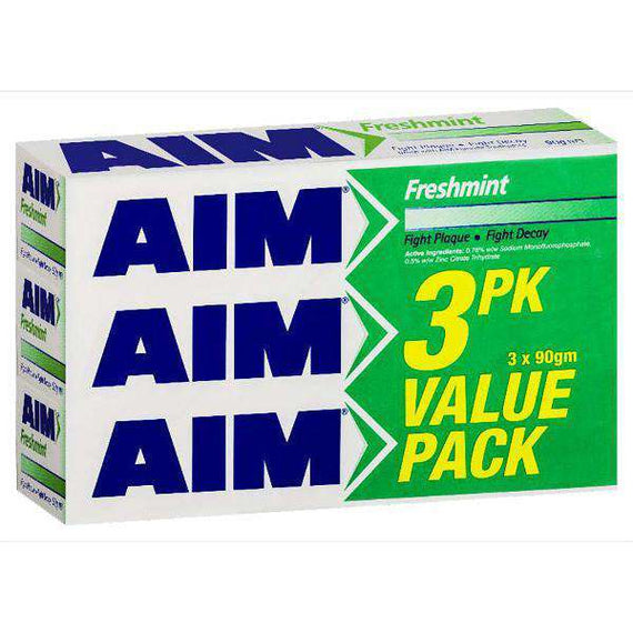 AIM Freshmint Toothpaste 3 Pack Value Pack 3X90g